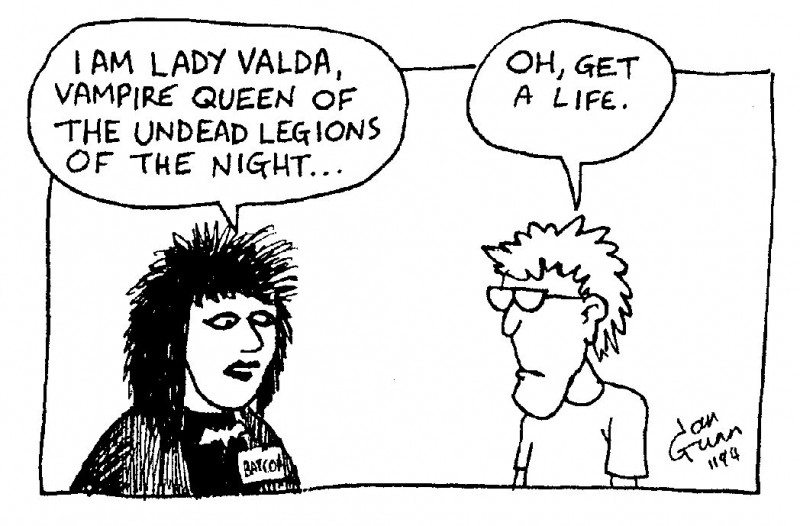 Lady Valda — a silly illo by Ian Gunn