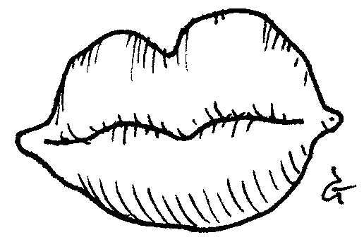 Lips — a silly illo by Ian Gunn