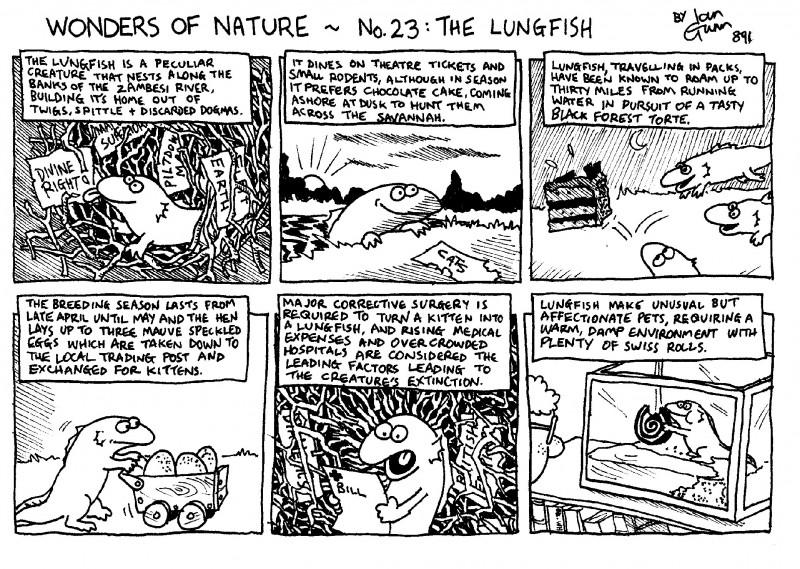 Lungfish — a silly illo by Ian Gunn