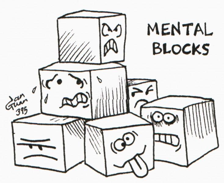 Mental Blocks (emotional Lego) — a silly illo by Ian Gunn