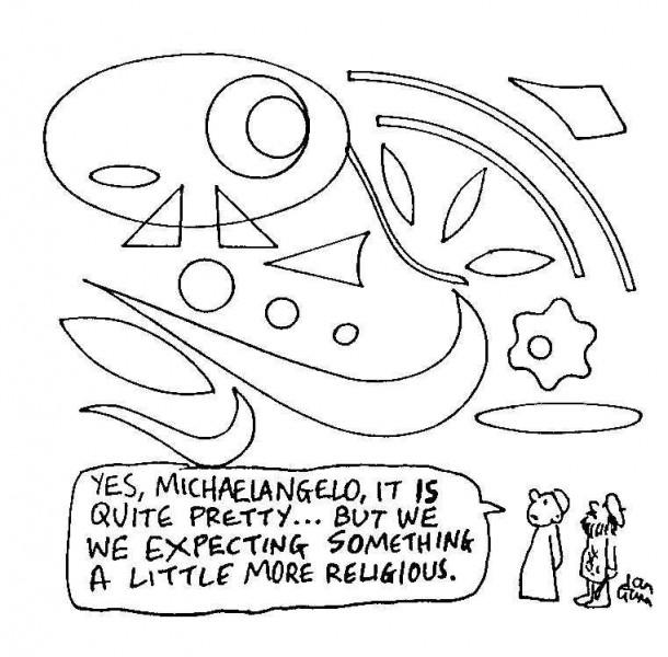 Michaelangelo — a silly illo by Ian Gunn