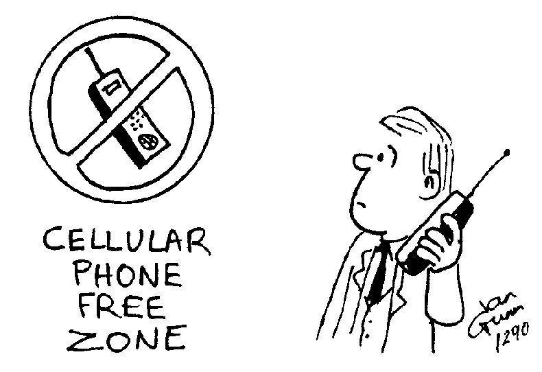 Cellular Free Zone: a silly illo by Ian Gunn