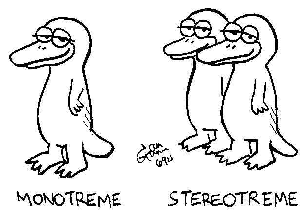 Monotreme: a silly illo by Ian Gunn