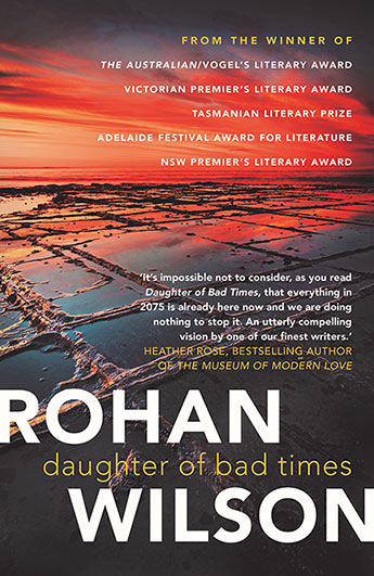 Daughter Of Bad Times : the cover shows flooded fields in this dystopian novel