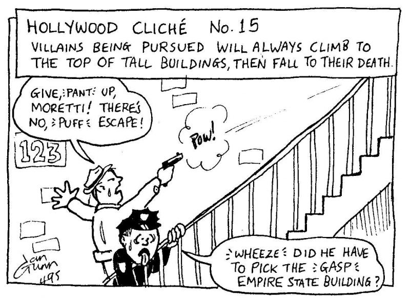 The highest room in the tallest tower: a silly illo by Ian Gunn