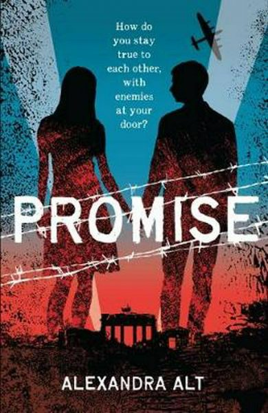 Promise cover depicts a girl and a boy in silhouette, crossed by 4 strands of white barbed wire