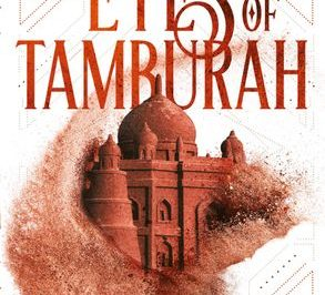 The Eyes of Tamburah: a medieval Middle Eastern building is depicted in sand