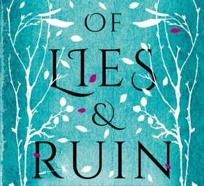 Daughter of Lies and Ruin: a three-toned forest with falling leaves