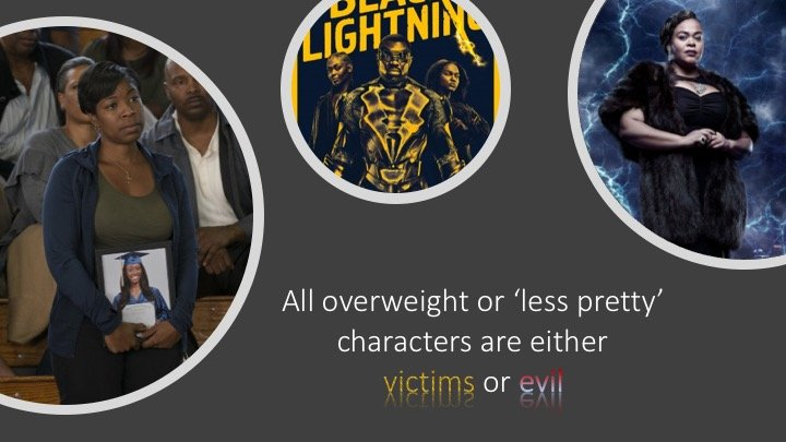 black lightning victimises or makes 'less pretty' characters including those with albinism evil