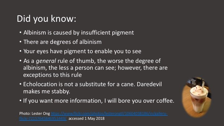 albinism explained: text shown here is also below the image