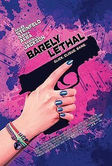 barely lethal: girl's hands hold a gun