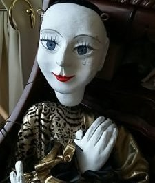 a photo of a Pierrot doll provided by Rachel Nightingale