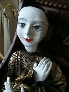 Pierrot doll from Commedia, provided by Rachel Nightingale