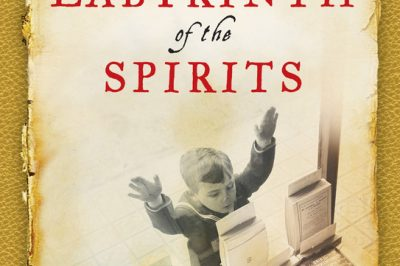 Labyrinth of the Spirits - a boy looks into a bookshop window