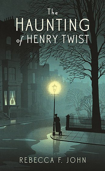 The haunting of henry twist a figure leans against a lampost in a city street under a tree at night