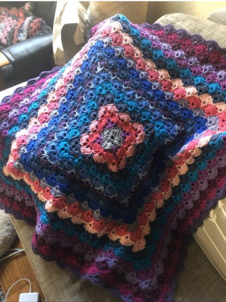 favel Parrett will make a unique crochet lap blanket for her auction winner