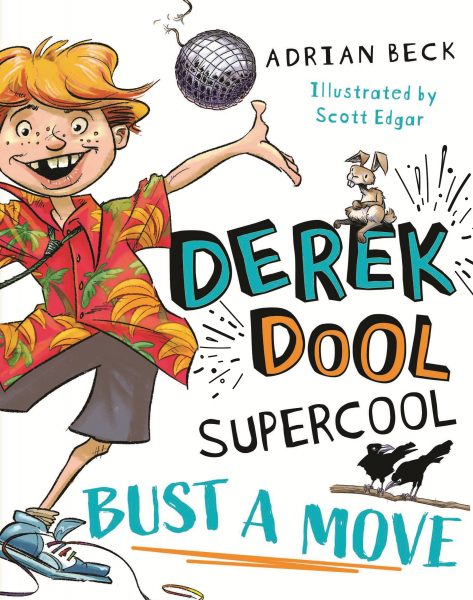 Derek Dool is a red haired boy with freckles looking dorky on the cover