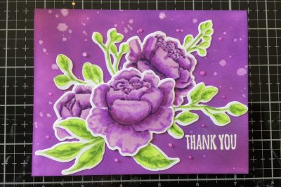 Gabrielle Tozer's thank you: purple flowers with green leaves