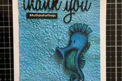 Thank you Phillipa Nefri Clark: seahorse card