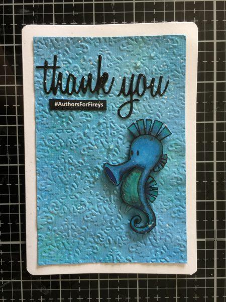 seahorse thank you card