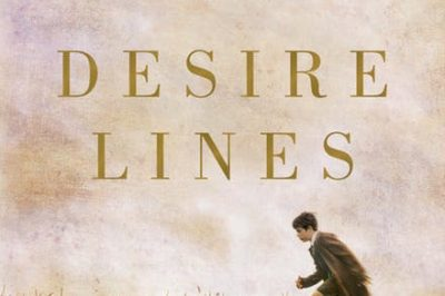 Desire Lines by Felicity Volk: a boy runs across the bottom of the cover