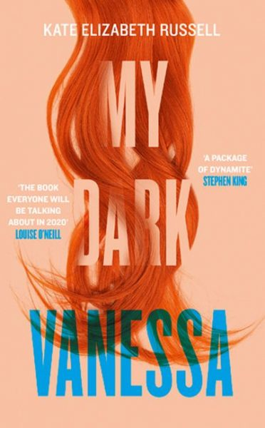 My Dark Vanessa: red hair drapes over the title