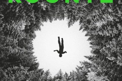 Devoted by Dean Koontz: looking up at the tops of a forest of trees, a body lies in the middle (WTF? that's what I see, I kid you not)