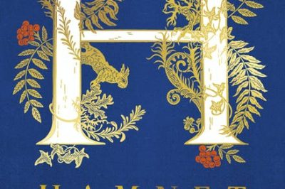 Hamnet: an ornate letter H dominates the page above the title and author's name