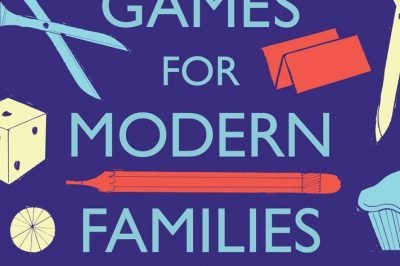 Parlour Games for Modern Families: the title is surrounded by household objects like scissors, die, and a teapot