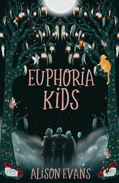Euphoria Kids: a cat sits in a gum tree above three children
