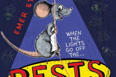 Pests: a rat swings from an incandescent light bulb
