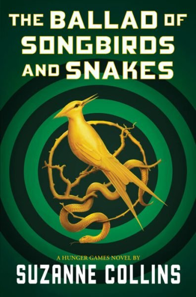 Ballad of songbirds and snakes: the iconic mockingjay is depicted with a snake