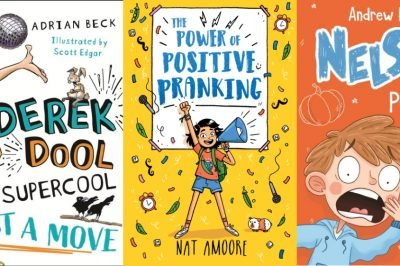 Kidlit panel: image includes bookcovers for Derek Dool, Power of Positive Pranking and Nelson Pumpkins and Aliens