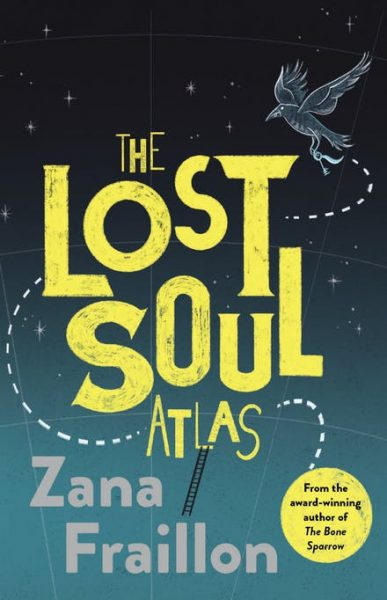Lost Soul Atlas: a raven holding a key flies along a dotted line as if it's a map