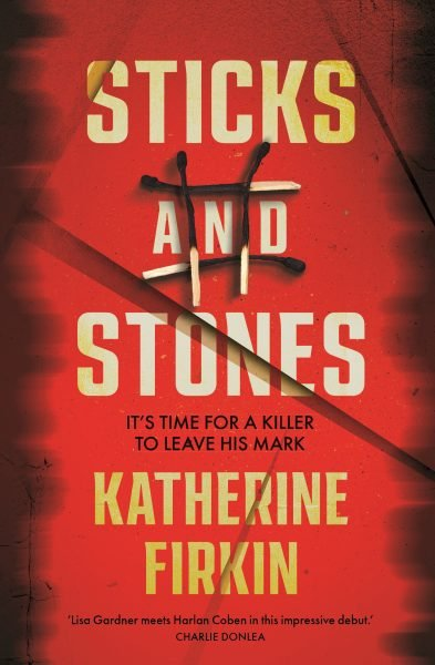 Sticks and stones: burnt matchsticks form a hashtag