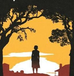 Who am I? earthy tones often used in Indigenous art depict a girl's silhouette in a rural setting