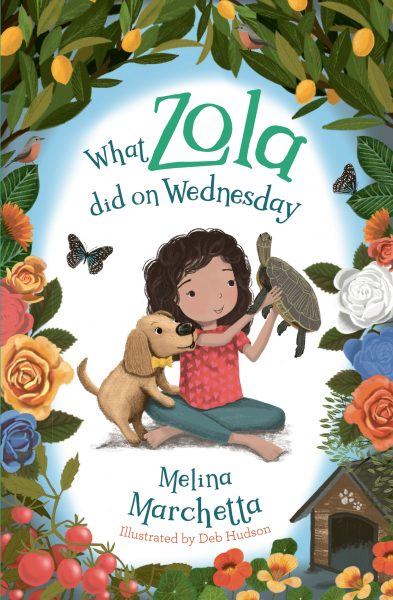 What zola did on wednesday: zola and her dog are playing with a turtle