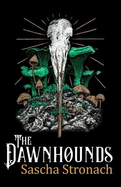 Dawnhounds: toadstools surround a skull (I think)