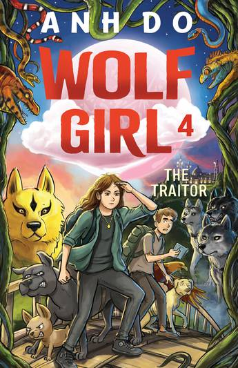 Wolf girl: traitor: Gwen and her family-of-choice walk towards the reader