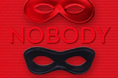 The nobody people: eye-masks lie between individual words in the title