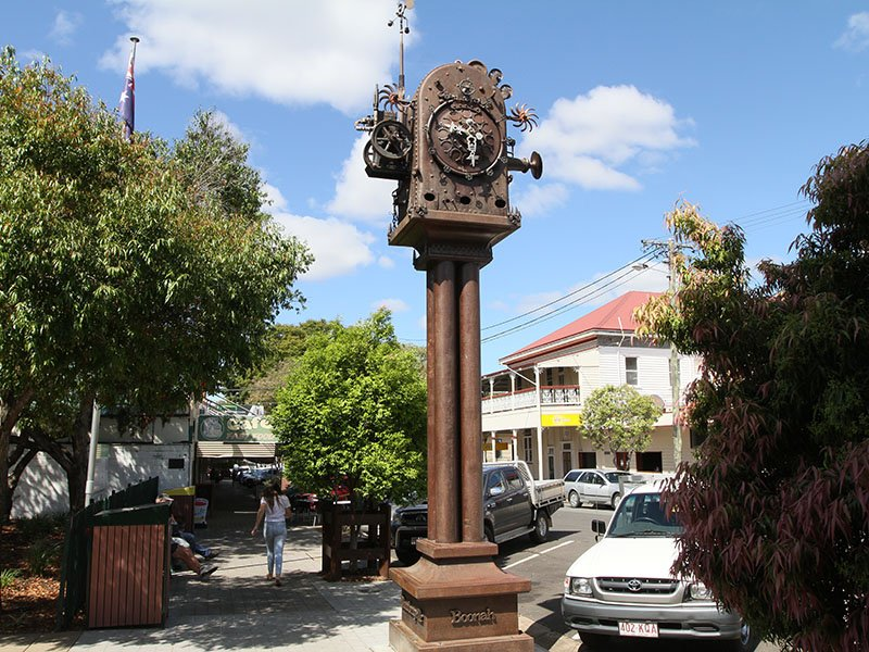 The Bumbergville Clock: a town clock inspired by Dr Seuss and looking very steampunk