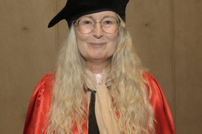 Elizabeth Knox in full regalia when she received her honorary doctorate