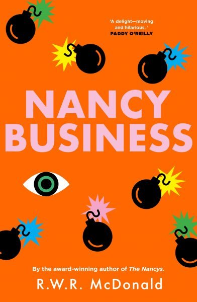 Nancy Business: some eyes and bombs surround the title