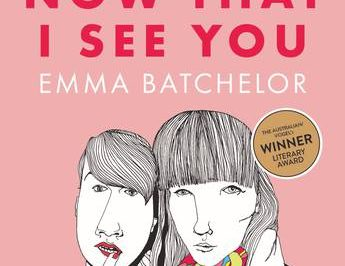 Now that I see you: below the title, two people are depicted in portrait line drawings