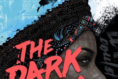 the dark lady: a dark lady's head is the ground upon which much smaller children run
