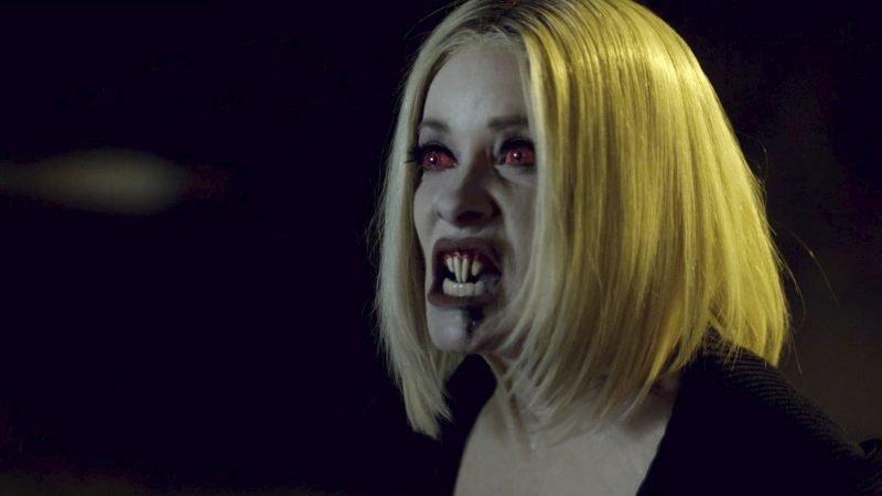 Barbara Crampton as a vampire