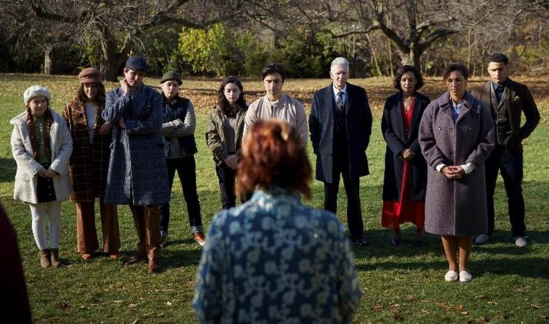 Slasher: Flesh and Blood - the family gathers. Paula Brancati is second from the left