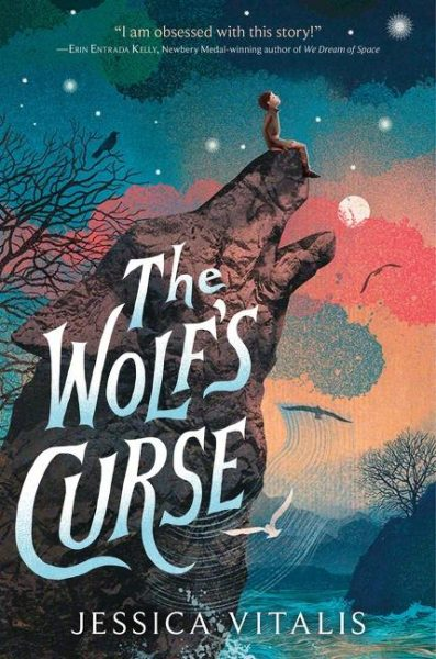 The Wolf's Curse: a wolf howls at the moon